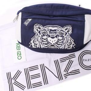 KENZO ケンゾー ウエストポーチ ブルー×ホワイト タイガー[全国送料無料] r016529