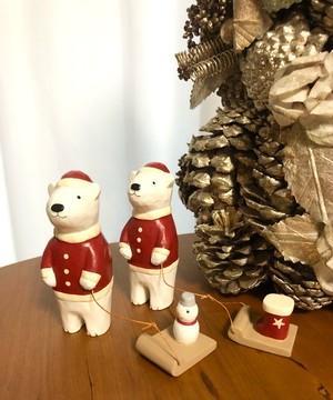 T-lab  ティーラボ ぽれぽれ クリスマス シロクマ 雪だるま/赤いブーツ
