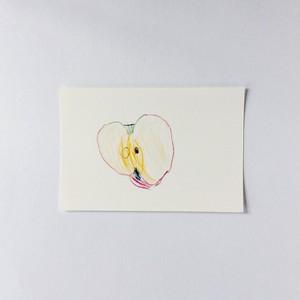 ポストカード りんご