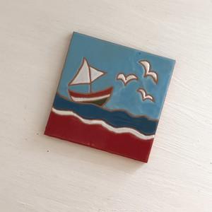 スペインタイル 10cm ×10cm ボート