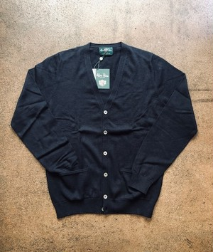 """ALAN PAINE   """"V/N CARDIGAN with POCKET(LUXURY COTTON)"""""""