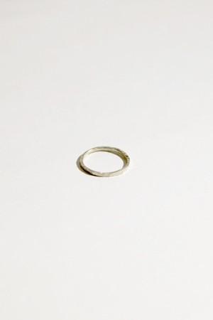 【grün⁺】槌目RING 1mm SILVER