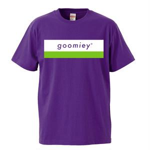 goomiey ロゴTシャツ(パープル)