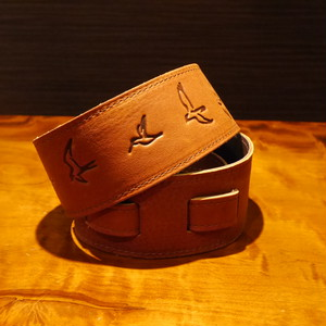 PRS Bird Inlay Strap / Brown