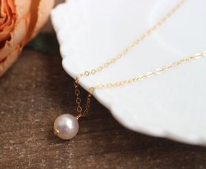 一粒あこやバロック本真珠のネックレス(7~7.5mm)