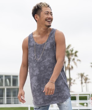 Re: ONE POINT TIE DYE PATTERN TANK TOP[REC200]
