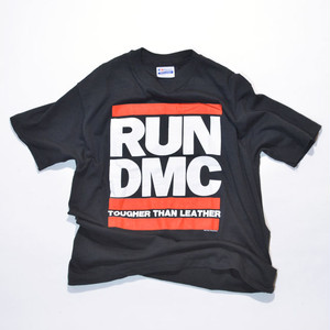 Deadstock OR mint USED★☆ 1988 RUN DMC Tougher Than Leather Tee