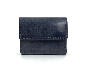 RE.ACT Bridle Leather Three Fold Compact Wallet Navy