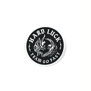 HARD LUCK - COCKY STICKER (Black) 70mm