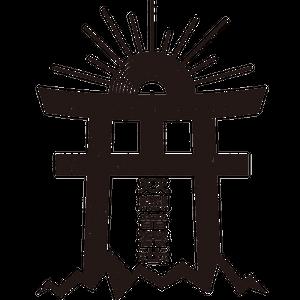 """SSSRecord""""天照音響社""""鳥居ロゴステッカー"""