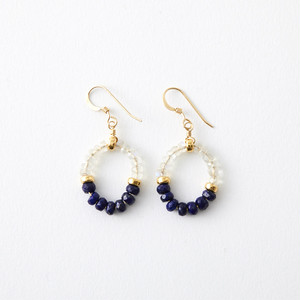 GRACE Earrings | Lapis Lazuli, Ceylon Moonstone
