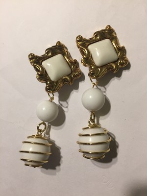 Vintage white earrings