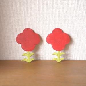 お花の壁飾り red flower