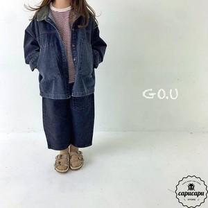 «sold out» go.u denim with mom 2colors デニムパンツ ママサイズあり
