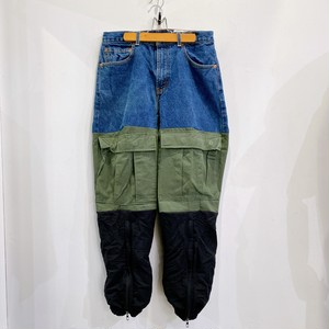 AWESOME BOY × ICHIRYU MADE / REMAKE DENIM CARGO TRACK PANTS