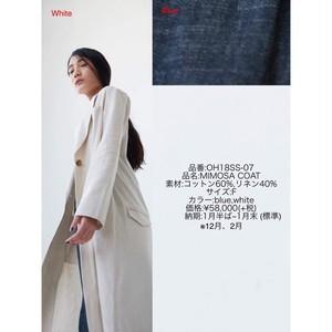 【残1点】2018SS07 MIMOSA COAT