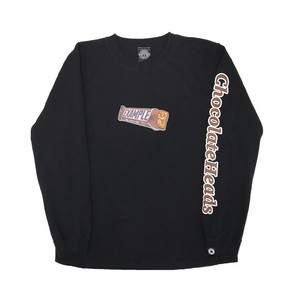 CHOCOLATE HEADS L/S TEE /BLACK