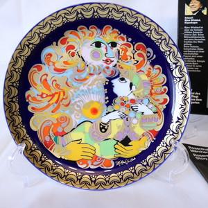 【CR1912-G11】ローゼンタール アラジン ヴョルンヴィンブラッドの絵皿 金の装飾