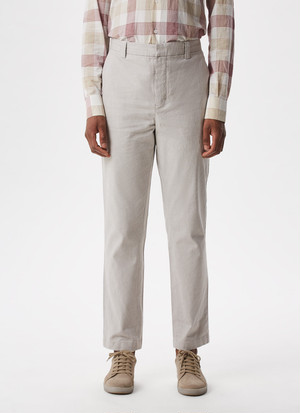 TEXTURED ELASTIC CHINO TROUSERS
