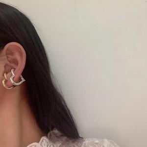 heart metal ear cuff