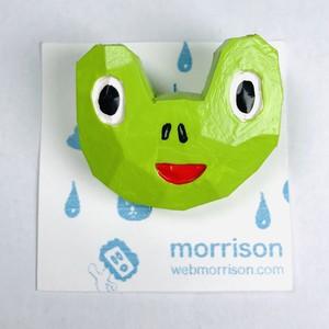 【morrison ムラバヤシケンジ】2.5次元木彫バッチ