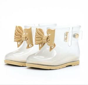 7859雨靴 キッズ  子供 子ども  ジュニア 長靴   女児 女の子 レインブーツ レインシューズ ショートブーツ 透明 13cm-18.5cm
