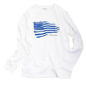 American Flag 【スタイリッシュトレーナー 】WH
