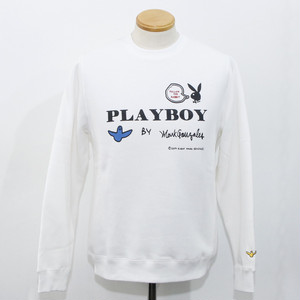 PLAY BOY × Mark Gonzales Crew (WHITE)