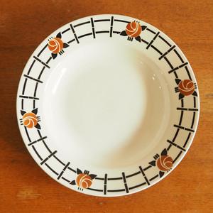 St-Amand(サンタマン)の茶色い花のスープ皿