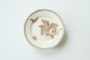 苺と昆虫の模様のコンポート皿