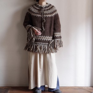 Alpaca Smock Type Sweater / アルパカ サークル スモッグ セーター