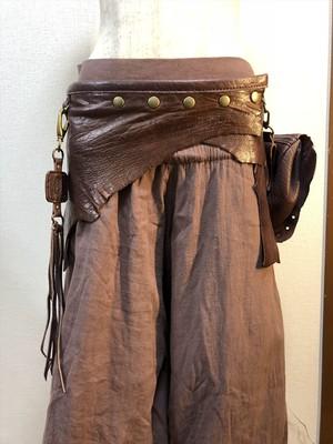 レザーベルトスカート(SK-003)