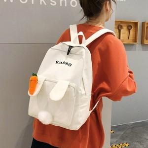 【バッグ】元気いっぱい キュット 大容量 切り替え 配色 ファスナー リュックサック27279381