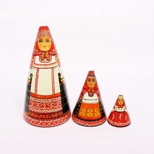民族衣装マトリョーシカ(ダロフィーワ作) 3個型②