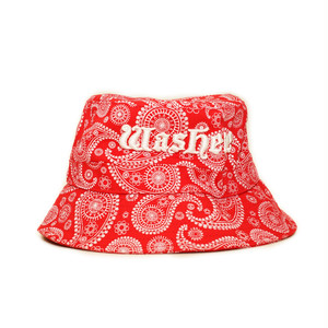 Washere PAISLEY BUCKET HAT (RED)