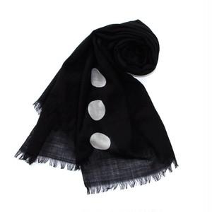 黒染めストール 「黒紋 -くろもん-(Black crest)」