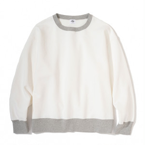 "Just Right ""TD Crew Neck"" Off White x Grey"