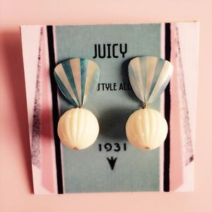 Shell ball pierce &earring