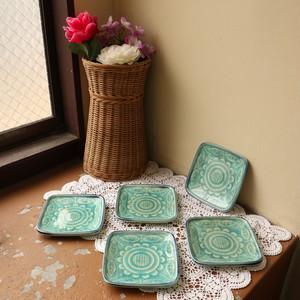 【アウトレットsale】昭和レトロ 陶器 花柄 角皿