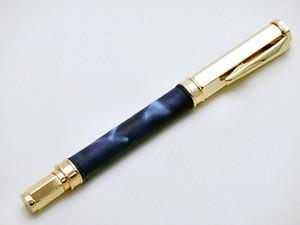 カーフレザー万華鏡染水性ボールペン