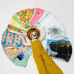 夏マスク:【完成品】ベルプペトーキョーパリ オリジナルファブリック 立体マスク