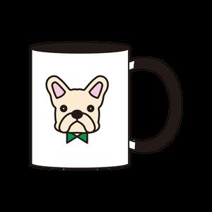 2トーンマグカップ(クリーム)_ブラック