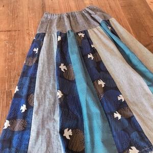 バードとつぶつぶのmixスカート(丈82cm)