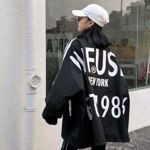 【アウター】ファッションストリートプリントアルファベット原宿bfジャケット26708358