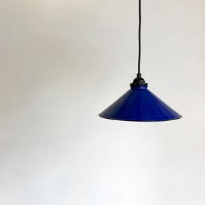Vintage Enamel Shade pendant Lamp / BLUE オランダ