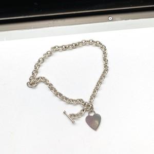 シルバー925 トグルクラスプチェーンネックレス with Heart tag