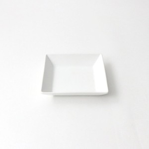 【5342-0000】-Oridge series-強化磁器 11cm スクエアプレート 白