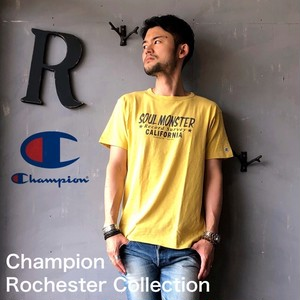 """Champion Rochester Collection """"PRINT T-SHIRT"""" R.Yellow"""