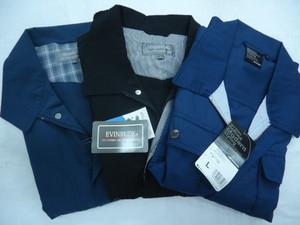 Z-2 半袖ブルゾン 半袖作業着 ジップアップ ネイビー ブラック Lサイズ まとめて3枚セット★タグ付新古品 未使用 メンズ
