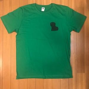 ワンポイントこいぬTシャツLサイズ(グリーン)